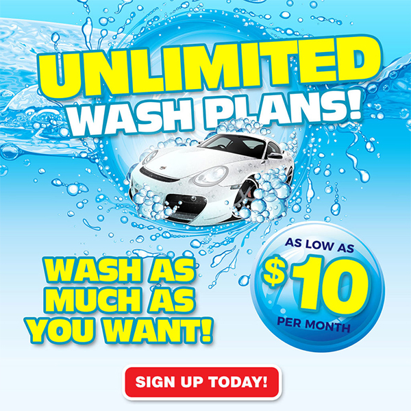 Sign Up for Unlimited Wash Plans